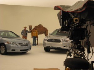 Toyota commercial, national release. Soundstage in Dallas, Texas.